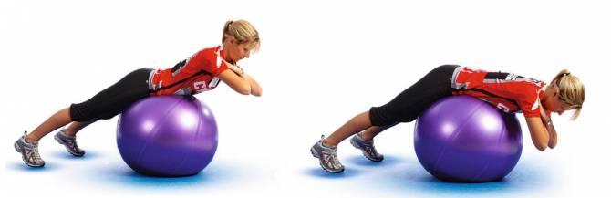 Комплекс упражнений на фитболе (гиперэкстензия)