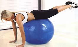 Комплекс упражнений на фитболе (хождение на руках)