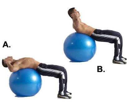 Комплекс упражнений на фитболе (скручивания)