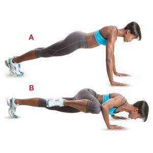 Плиометр. упражнения (Отжимания спайдермена)