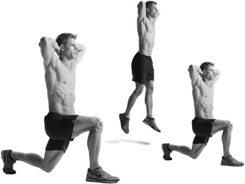 Плиометр. упражнения (Прыжки с заменой ног)