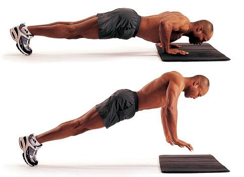 Плиометр. упражнения (отжимания с отрывом рук)