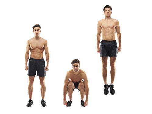 Плиометр. упражнения (присед с выпрыжкой)