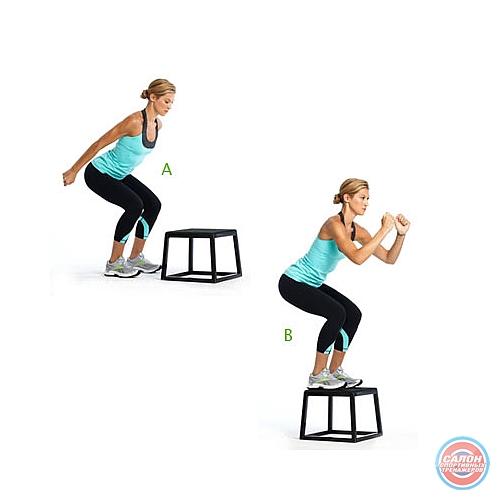 Плиометр. упражнения (прыжки на скамью)