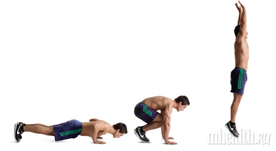Плиометр. упражнения (прыжки с выпрямлением рук)