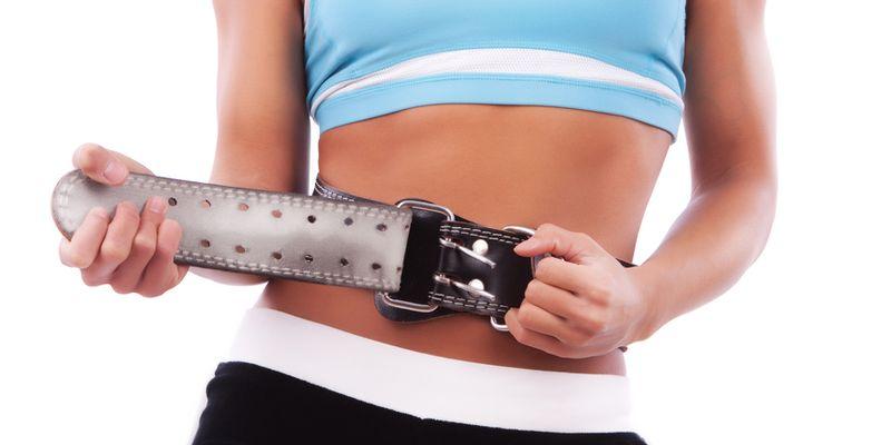 Athlete wearing sport belt