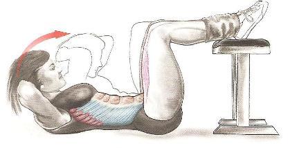 Скручивание ноги на гимн. скамье 2