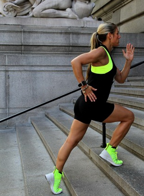 Кардио упражнения на лестнице