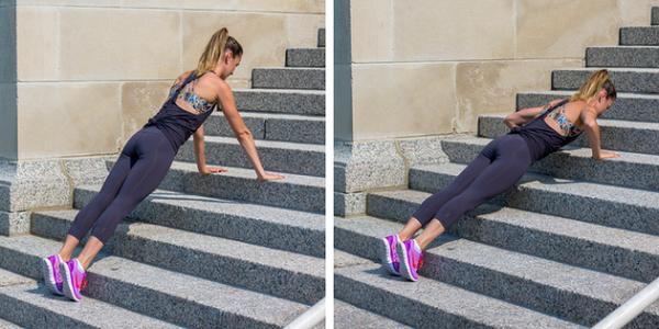 Отжимания на лестнице