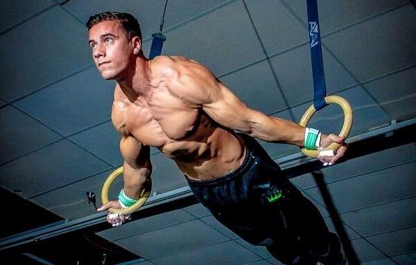 Упражнения на гимнастических кольцах