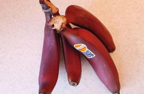 Как едят красные бананы