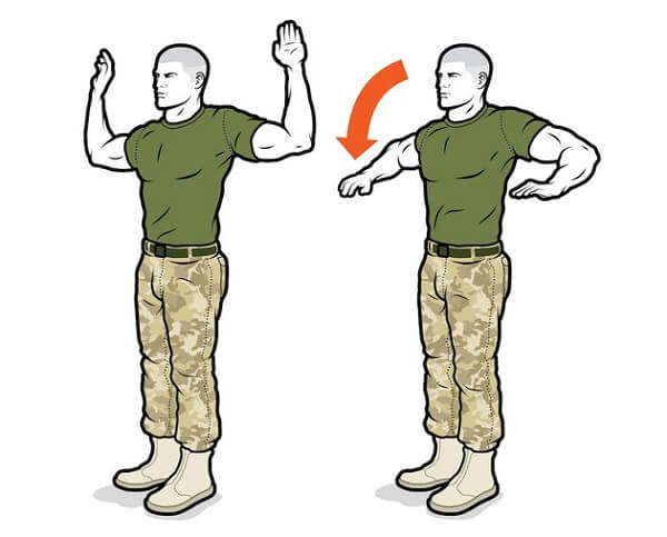 Супинация плечевых костей в положении стоя