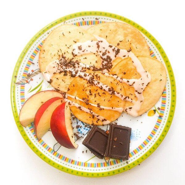 Оладьи с шоколадом