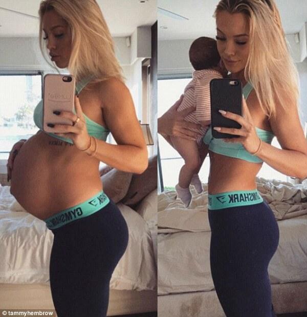 Беременность до и после